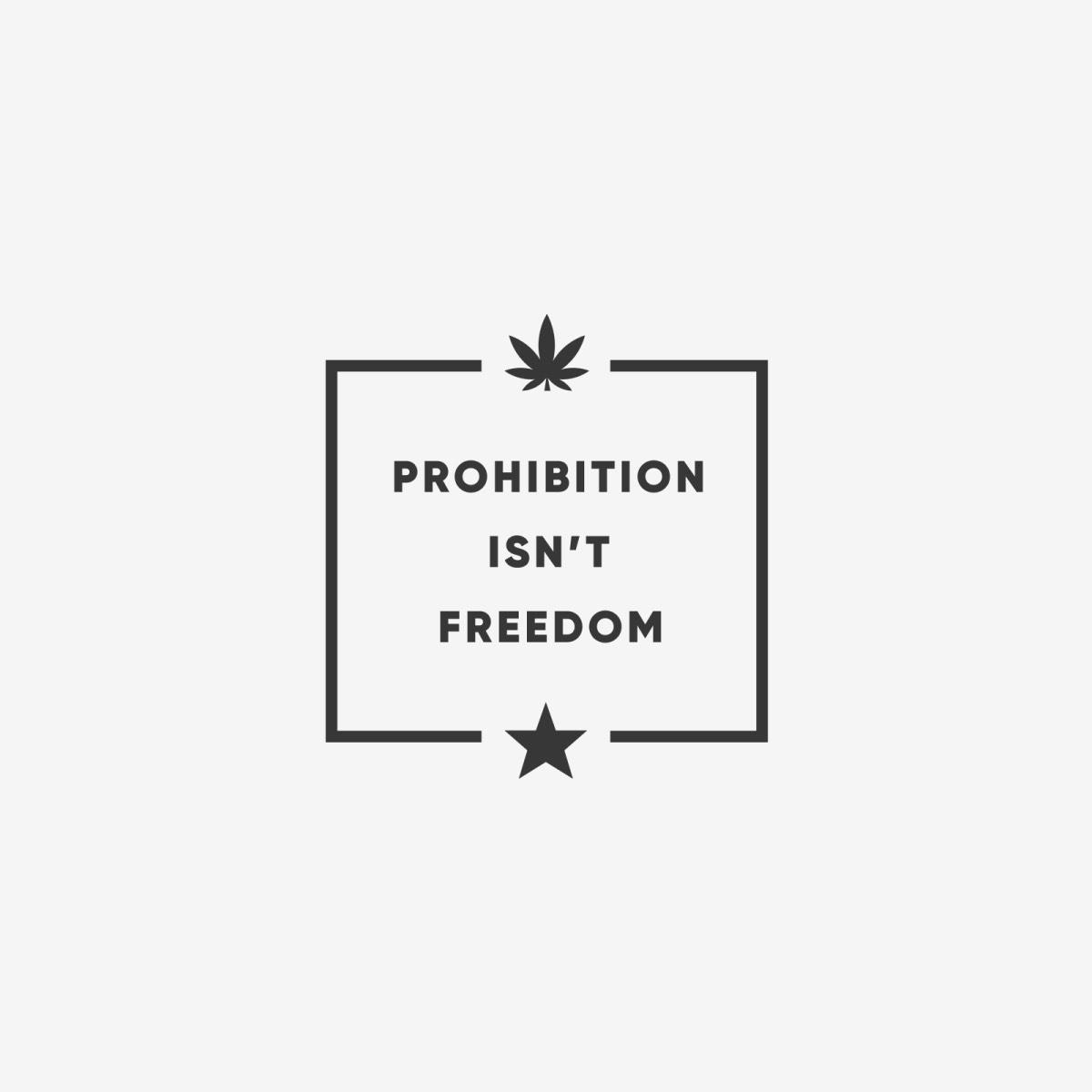 Marijuana anti-prohibition graphic