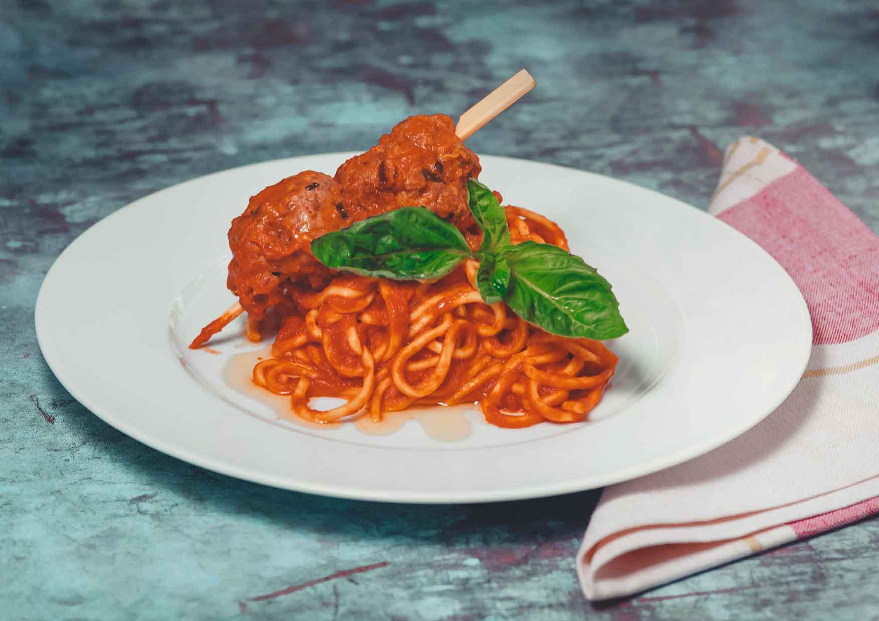 Spaghetti and Meatballs - comida para llevar - Meatpacking