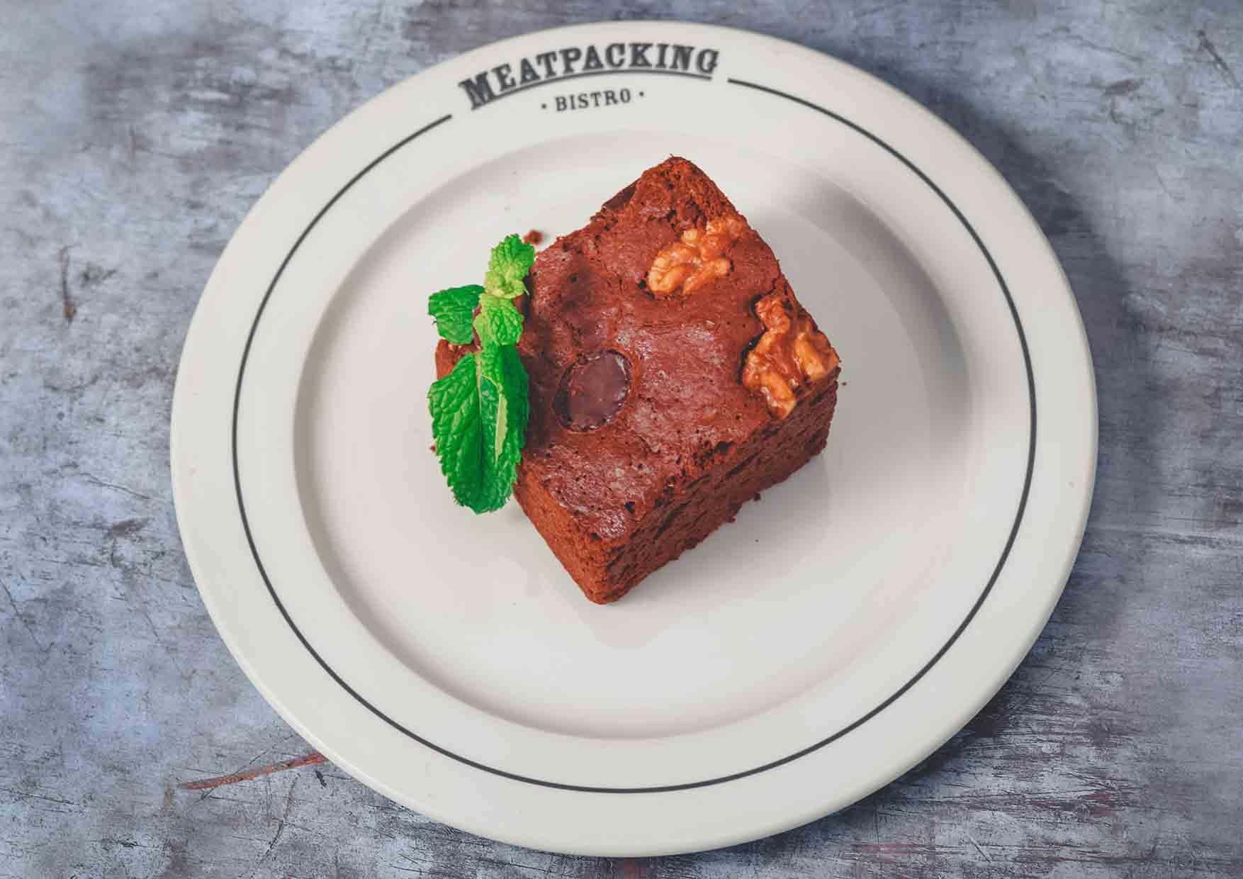 Brownie De Chocolate - postres barcelona - Meatpacking - restaurante a domicilio barcelona