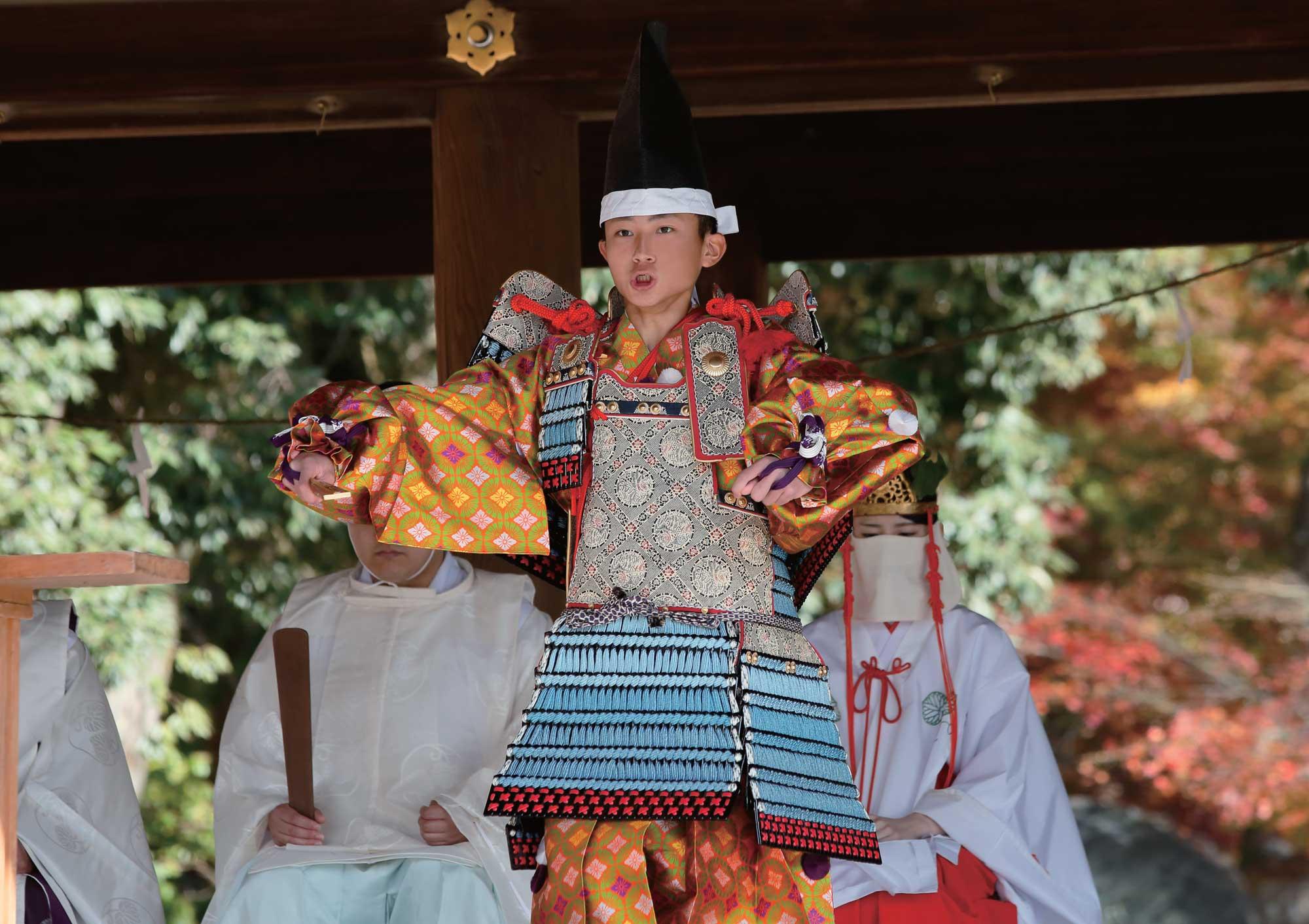 Performance at Kamigamo shrine