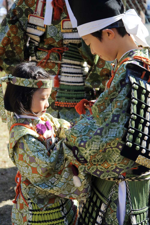 Children dressed in Heian costume