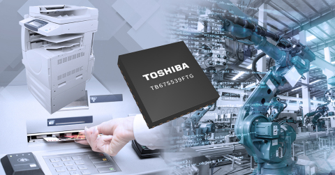Toshiba: TB67S539FTG, a 40V/2.0A stepping motor driver with resistorless current sensing. (Graphic: Business Wire)
