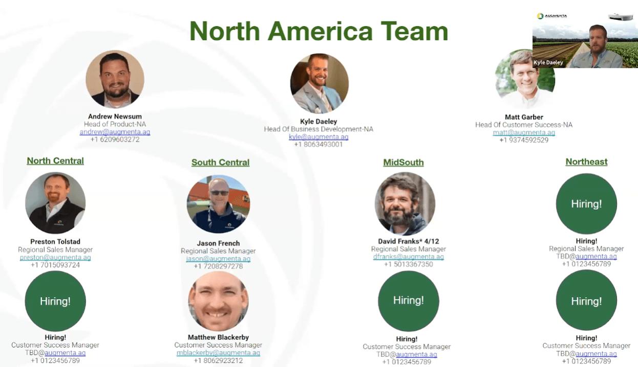 Augmenta's First Webinar in the USA