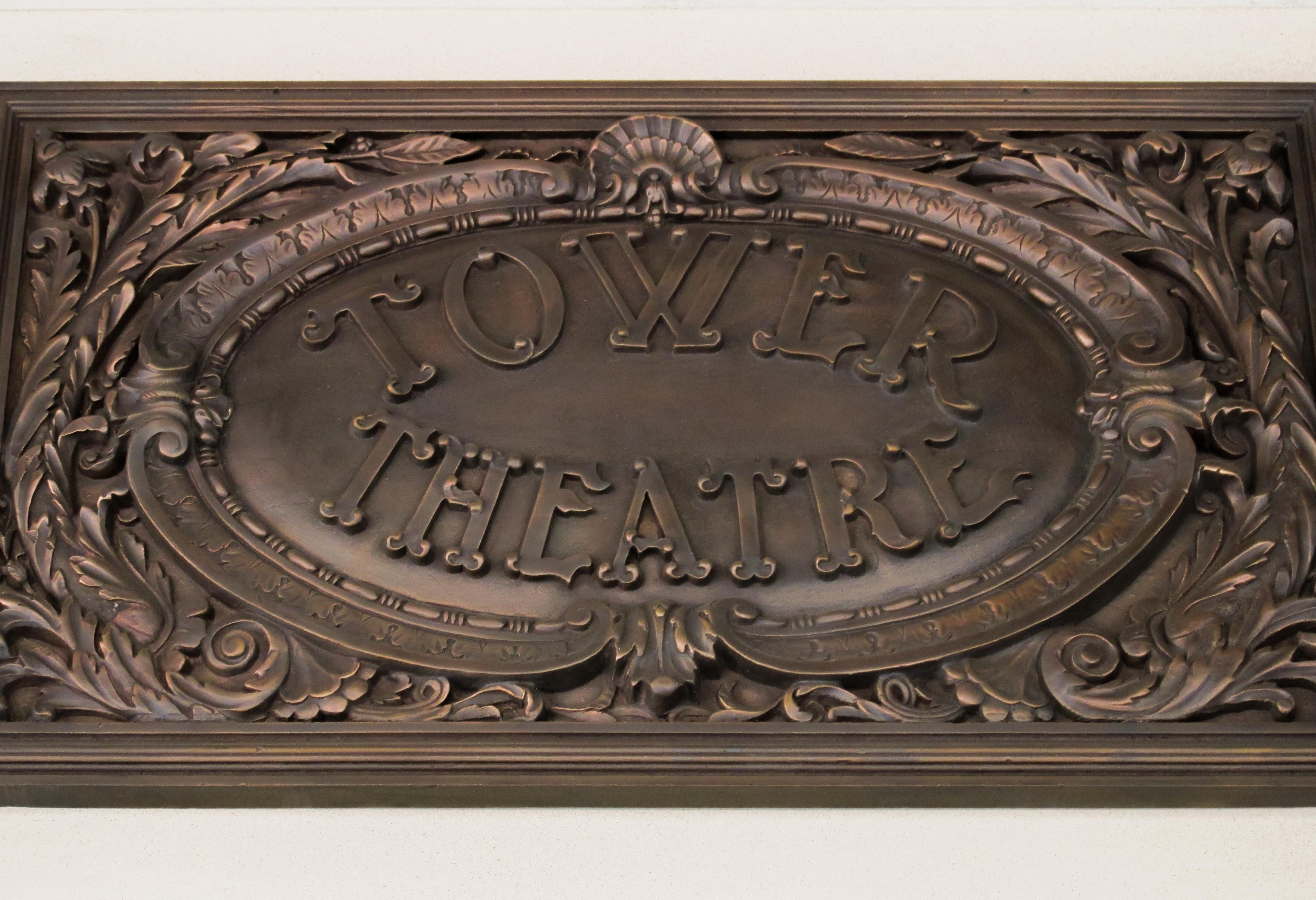 Tower Theatre Bronze Sign