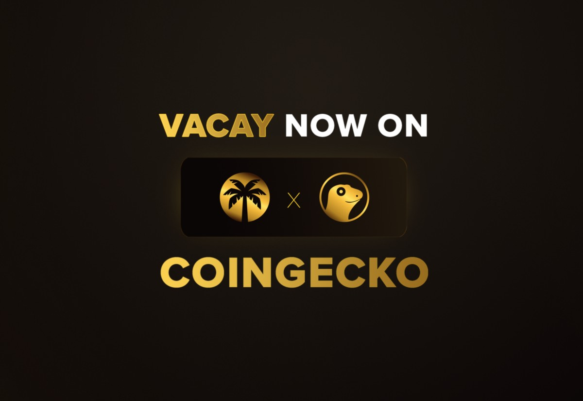 Vacay : Now Listed on CoinGecko