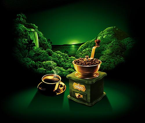 """Также коллекция кофе """"GRAND"""" пополнилась новым вкусом —бразильской арабикой Grand Aroma de Brazil."""