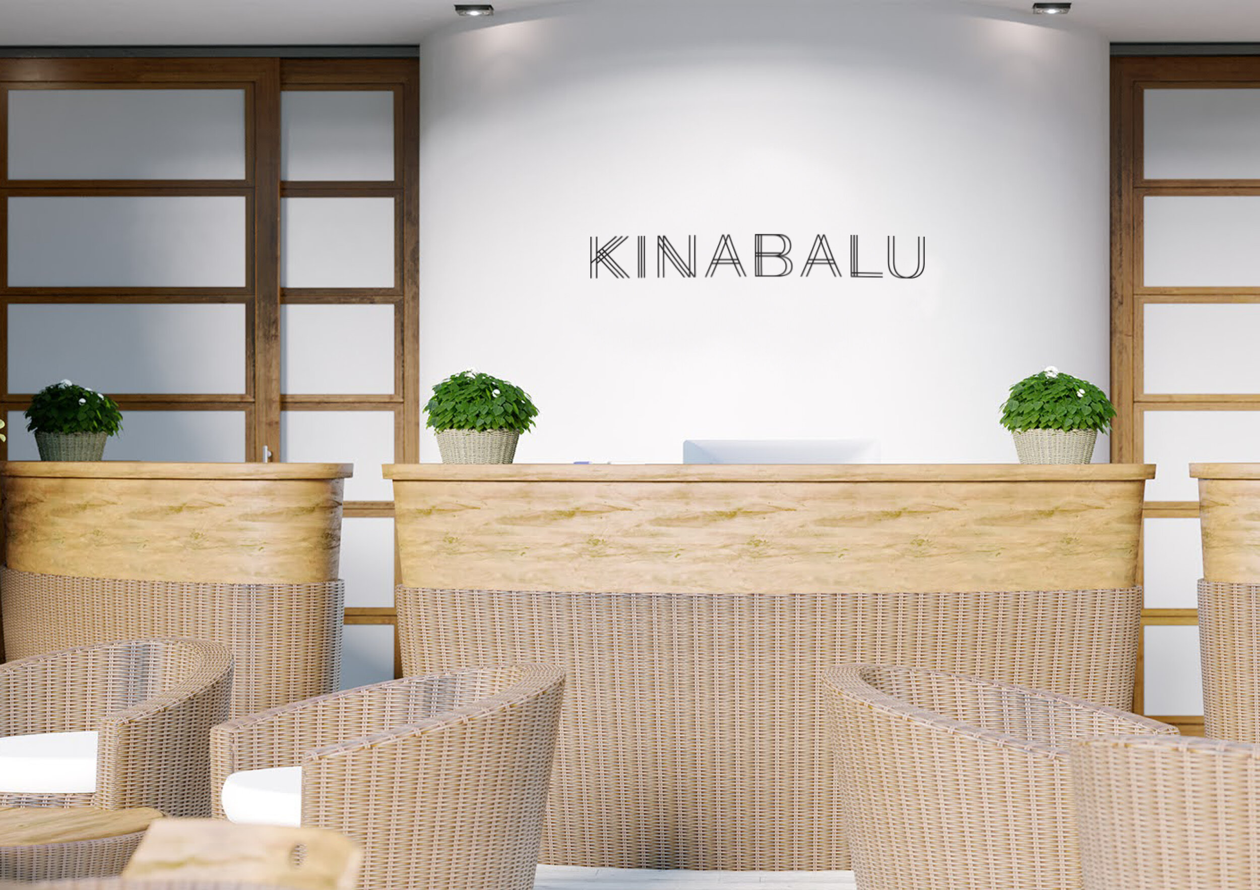 Для разработанной коллекции мебели был создан нейминг, отражающий происхождение основного материала коллекции. Кинабалу - одна из высочайших вершин Юго-Восточной Азии, в Малайзии, стране, где добывают высококачественный ротанг