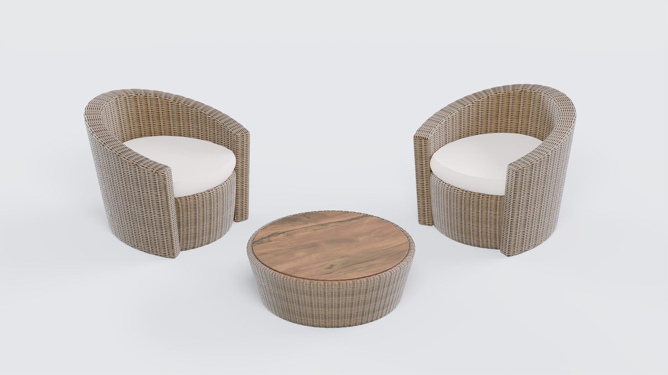 Проект включал этап промышленного дизайна, во время которого были разработаны модели плетеной мебели для использования в личных домовладениях и HoReCa