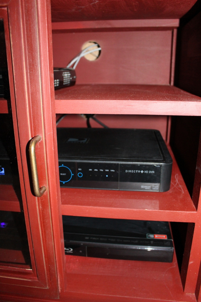 """I used a 2 ¼"""" drill bit and drilled out a large hole in the back. It was the perfect solution!"""