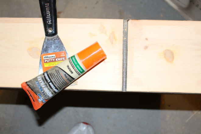 Let the wood putty cure for a few hours so that it is very hard a before sanding
