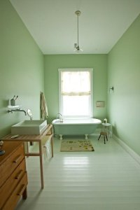 Soothing Mint Green Bathroom- Apartment Therapy