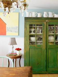Green Distress Furniture- Care of Centsational Girl!