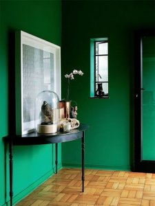Green Walls Done Right- Apartment Therapy