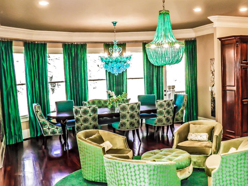 Dazzling Emerald Living Room! Care of HGTV