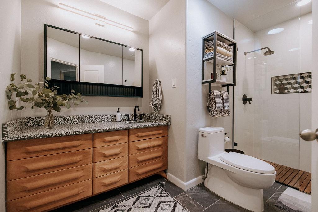 Midcentury Modern Hall Bath Transformation