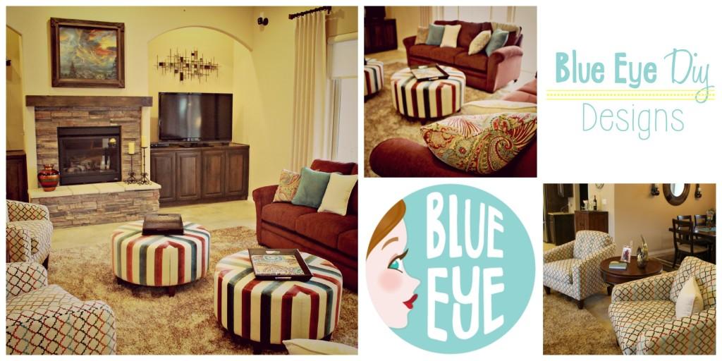 Blue Eye DIY Design LivingRoom