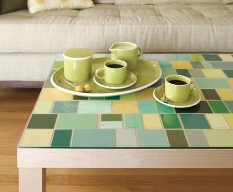 Ready-Made-paint-chip-mosaic-table