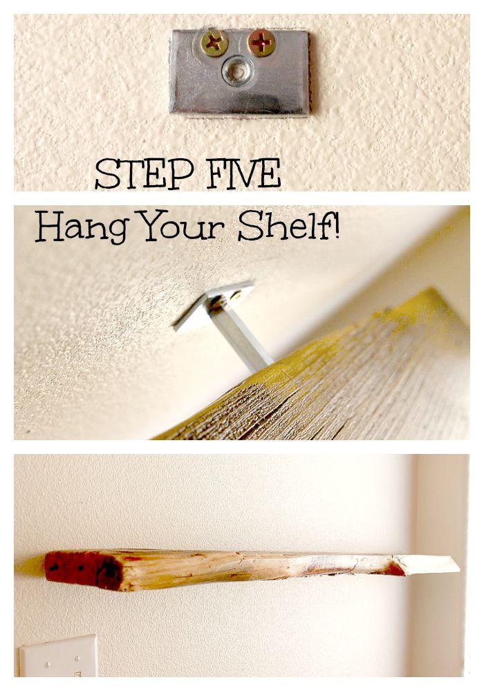 STEP 5 FLOATING SHELF