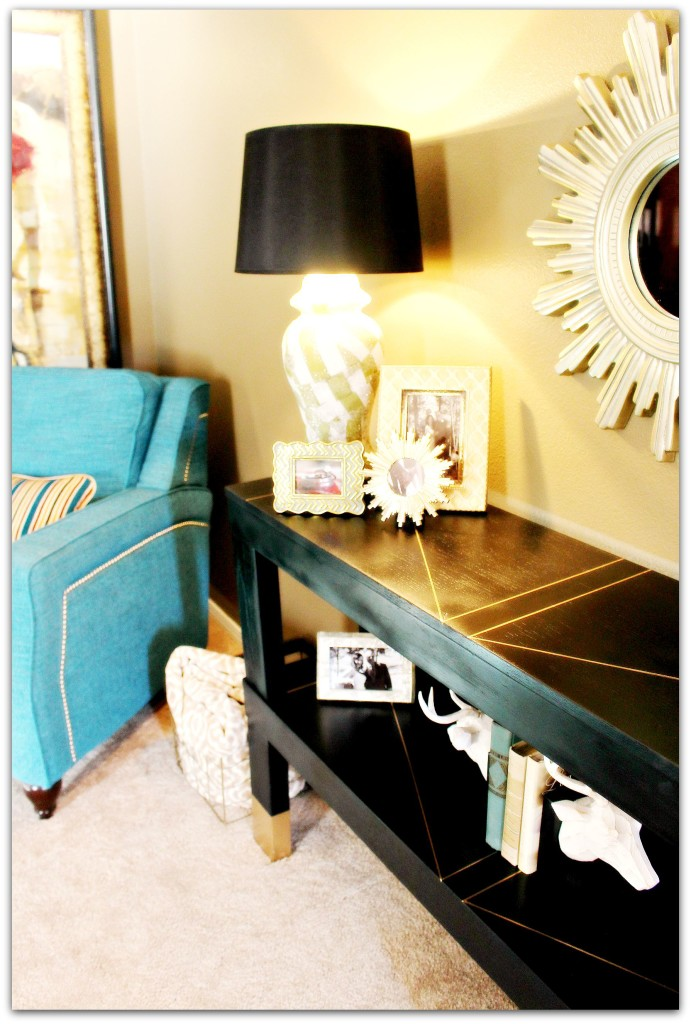 Console Table with Shadow Frame