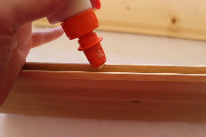 Glue tongue and groove together