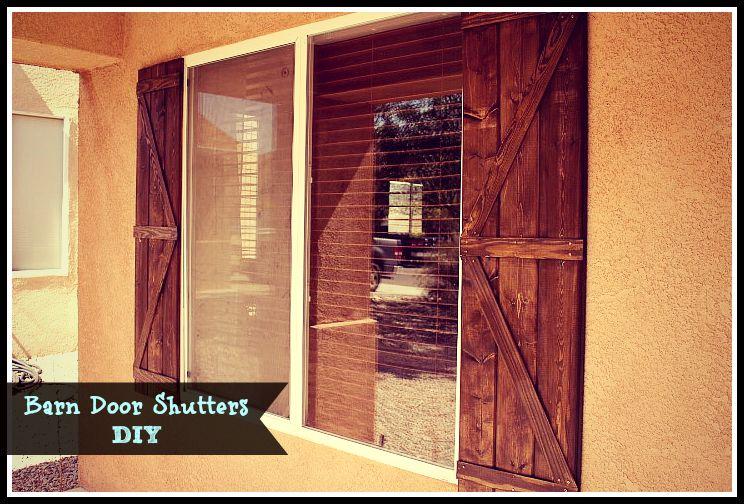 Barn Door Shutters DIY!
