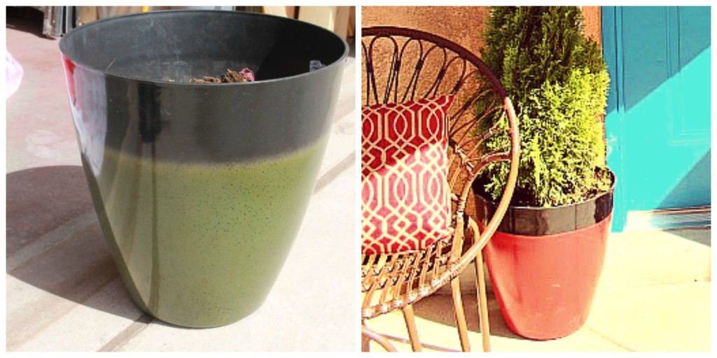 Flower Pot Before and After