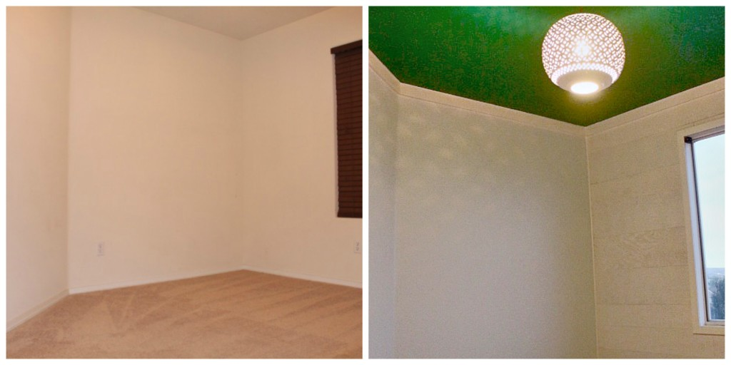 Before and After Office Slanted Wall