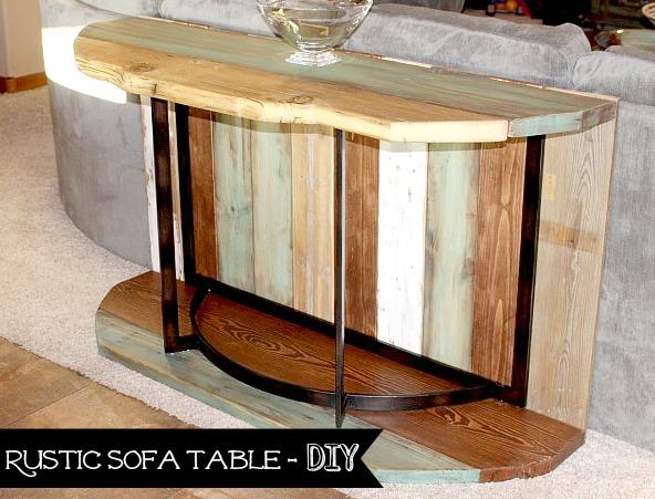 Rustic Sofa Table - DIY