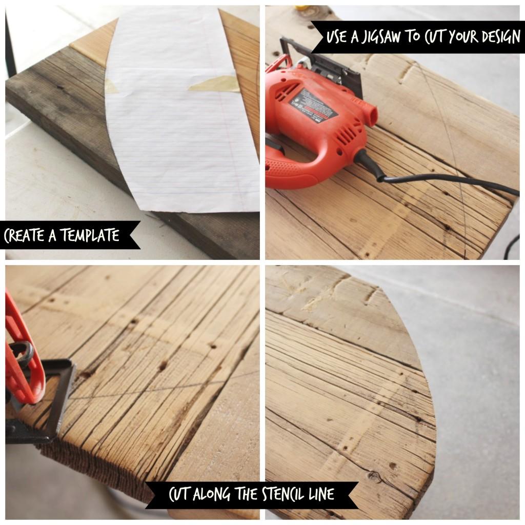 Rustic Sofa Table - Template
