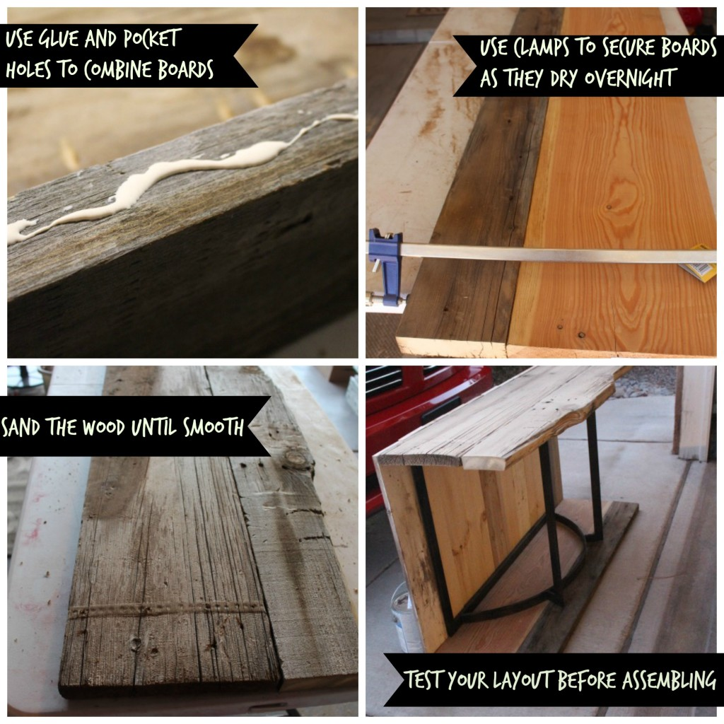 Sofa Table - Sanding and Assembling