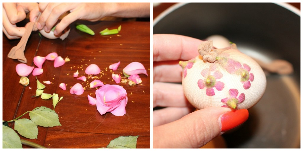 Natural Egg Dye with Flowers