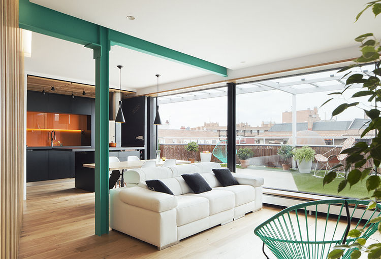Accent Color On Beams