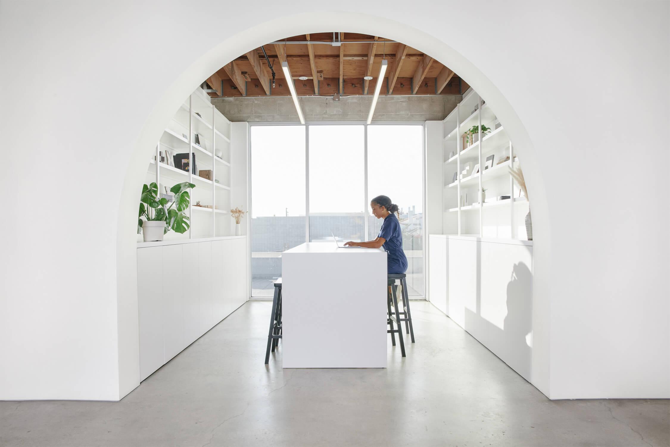 Laney LA office library