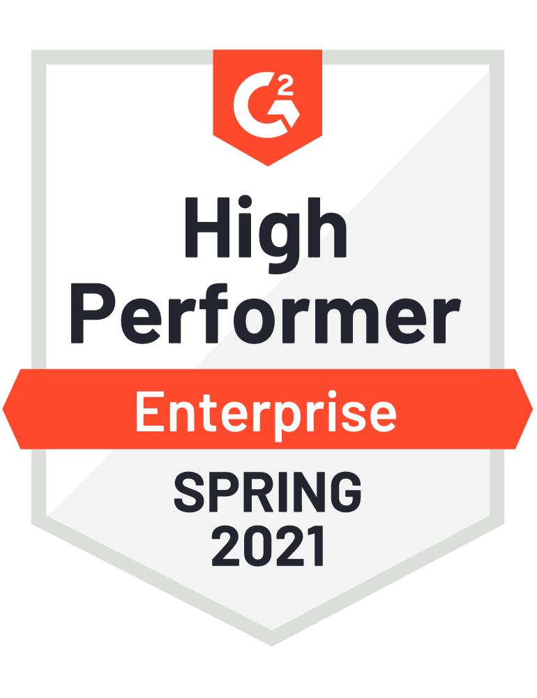 High Performer Enterprise Spring 2021 - G2 Badge to Cooleaf, leading  employee experience management software
