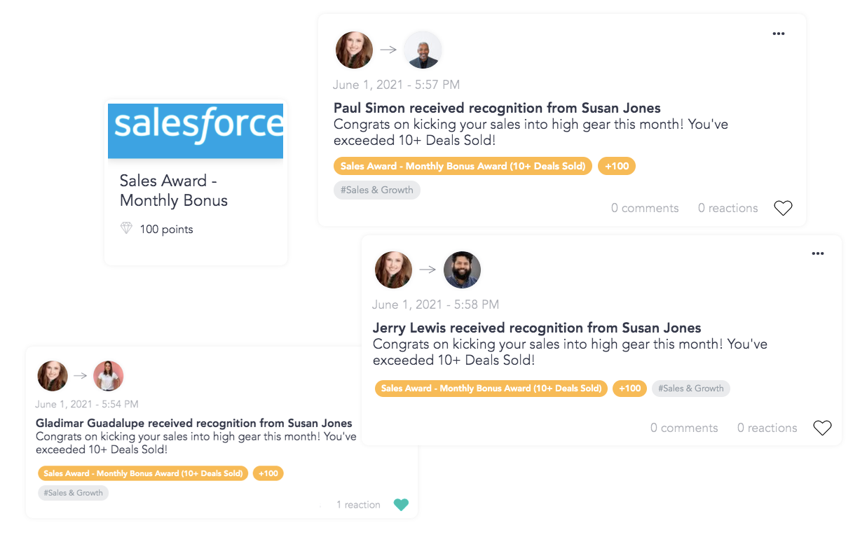 Using Cooleaf's saas performance monitoring system to reward employees