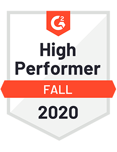 High Performer Fall 2020 - G2 Badge to Cooleaf, reliable employee experience management platform