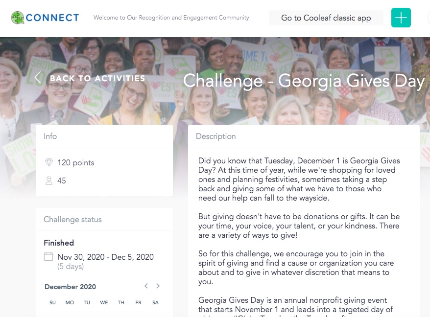 Create a virtual giving campaign to boost employee engagement