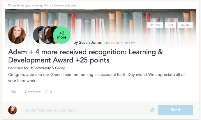 Earth Day Peer Recognition for a Green Workplace Culture