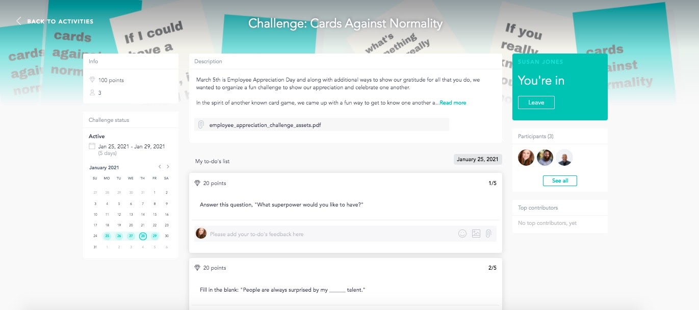 Get to know your remote coworkers with fun virtual challenges