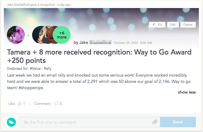 Cooleaf team recognition - ticket resolution