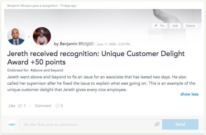 Core Value Recognition