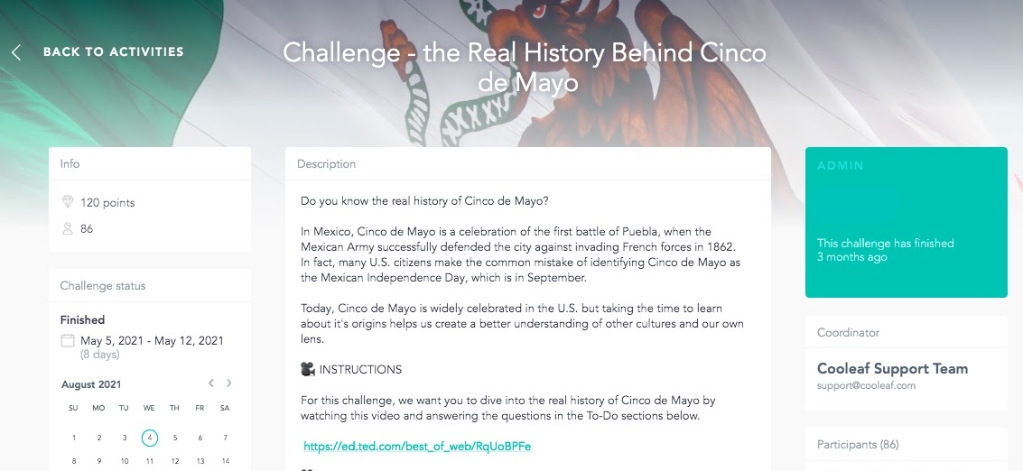 Encourage team members to dive into the real history of Cinco de Mayo