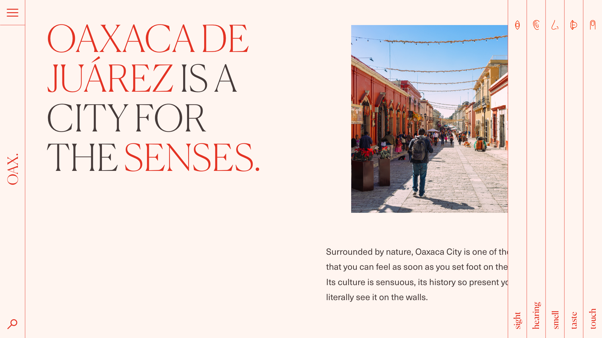 Desktop view of Oaxaca website
