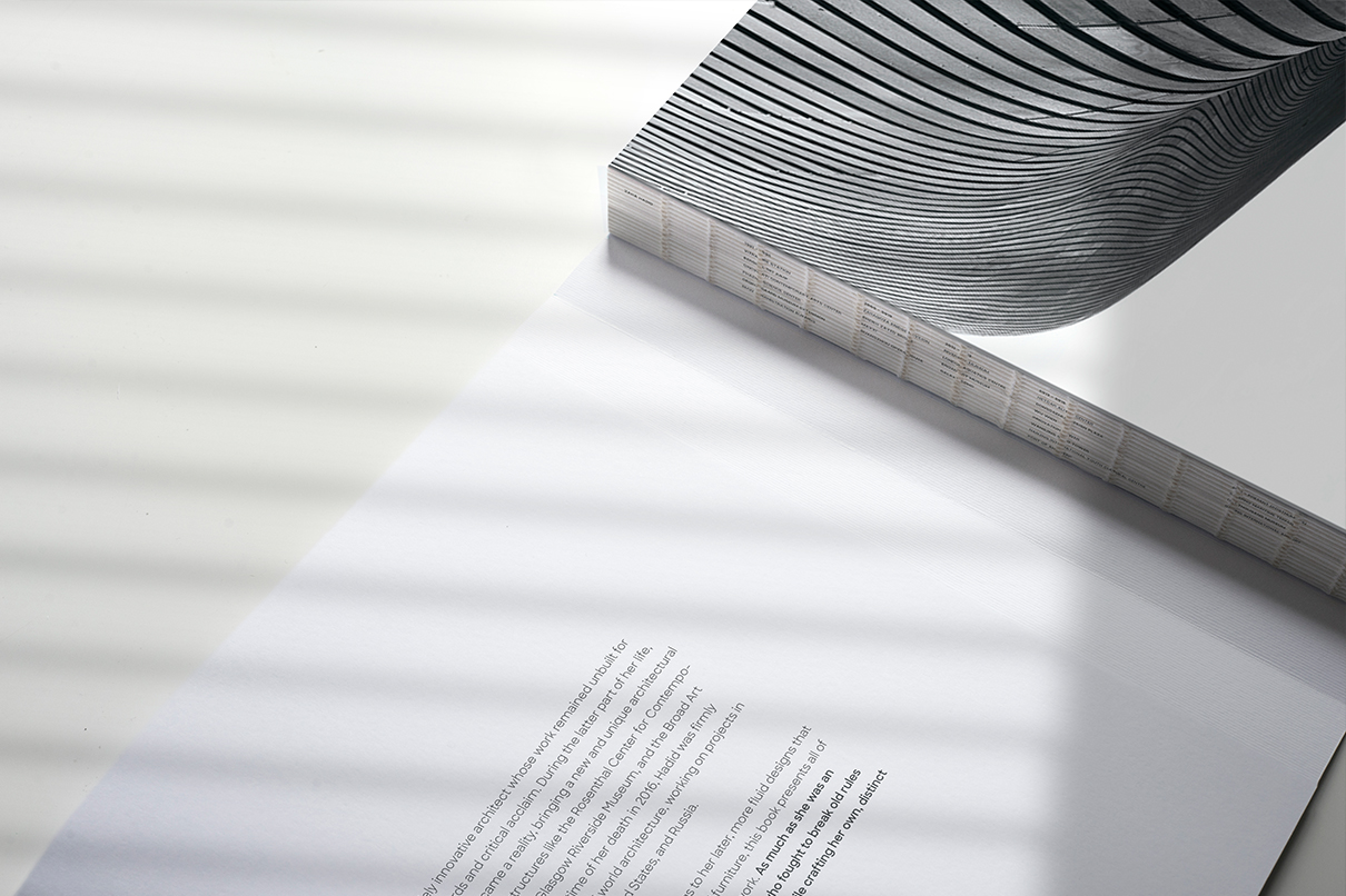 Smythe spine: Book about Zaha Hadid