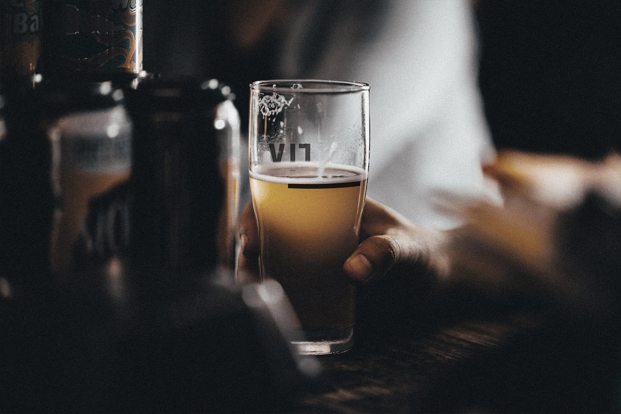 Barfly rebrand: Pint glass