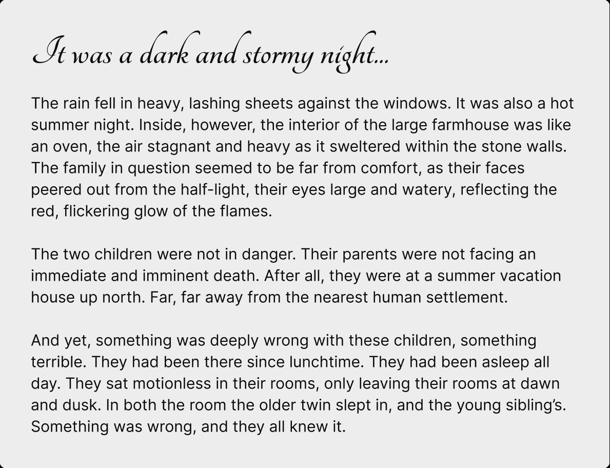 Story written by GPT-J