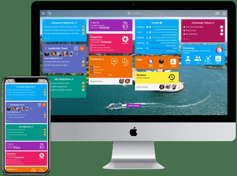 Crewmojo app on web and mobile
