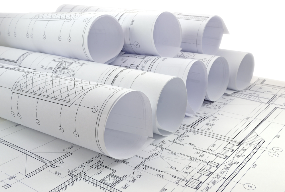 Roll of CAD drawings