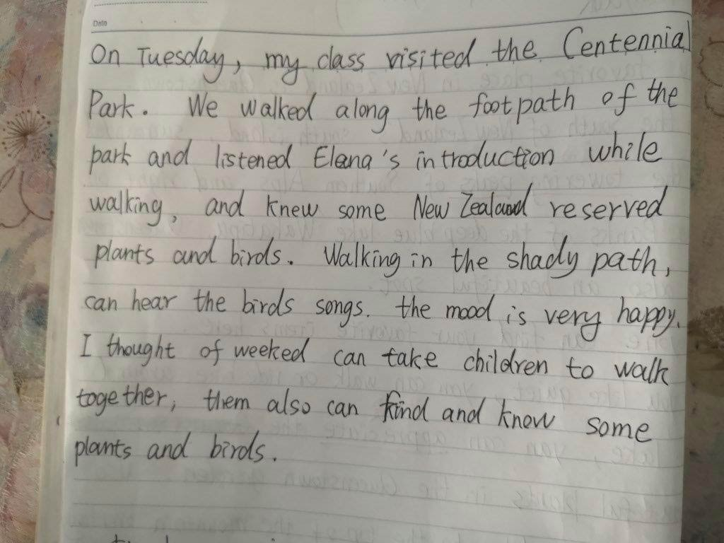'Out of class' adventures with English Language Partners writing