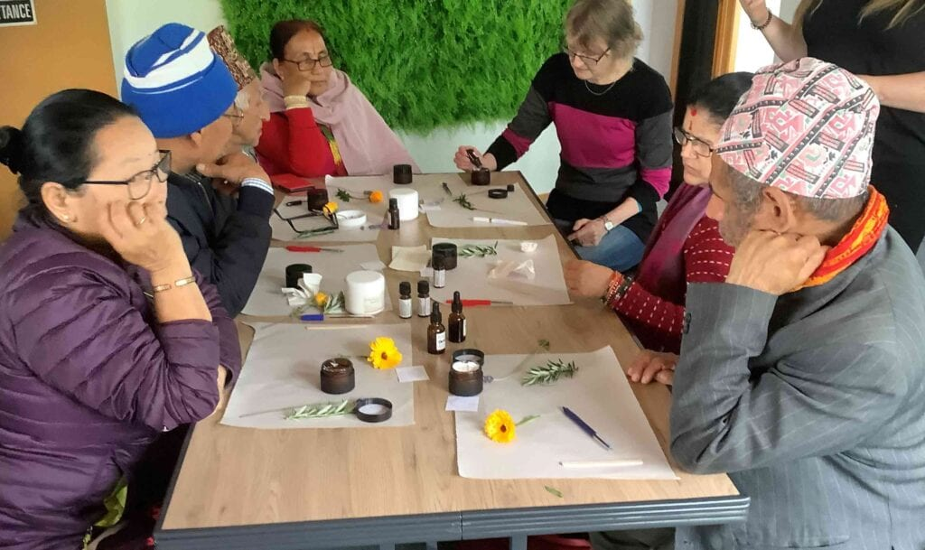 English Language Partners learners visit Herb Farm